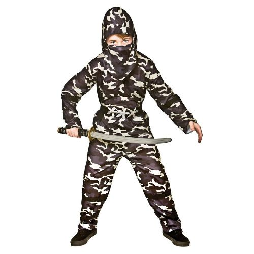 Childrens Boys Delta Ce Ninja Costume Oriental Fighter Soldier Fancy Dress